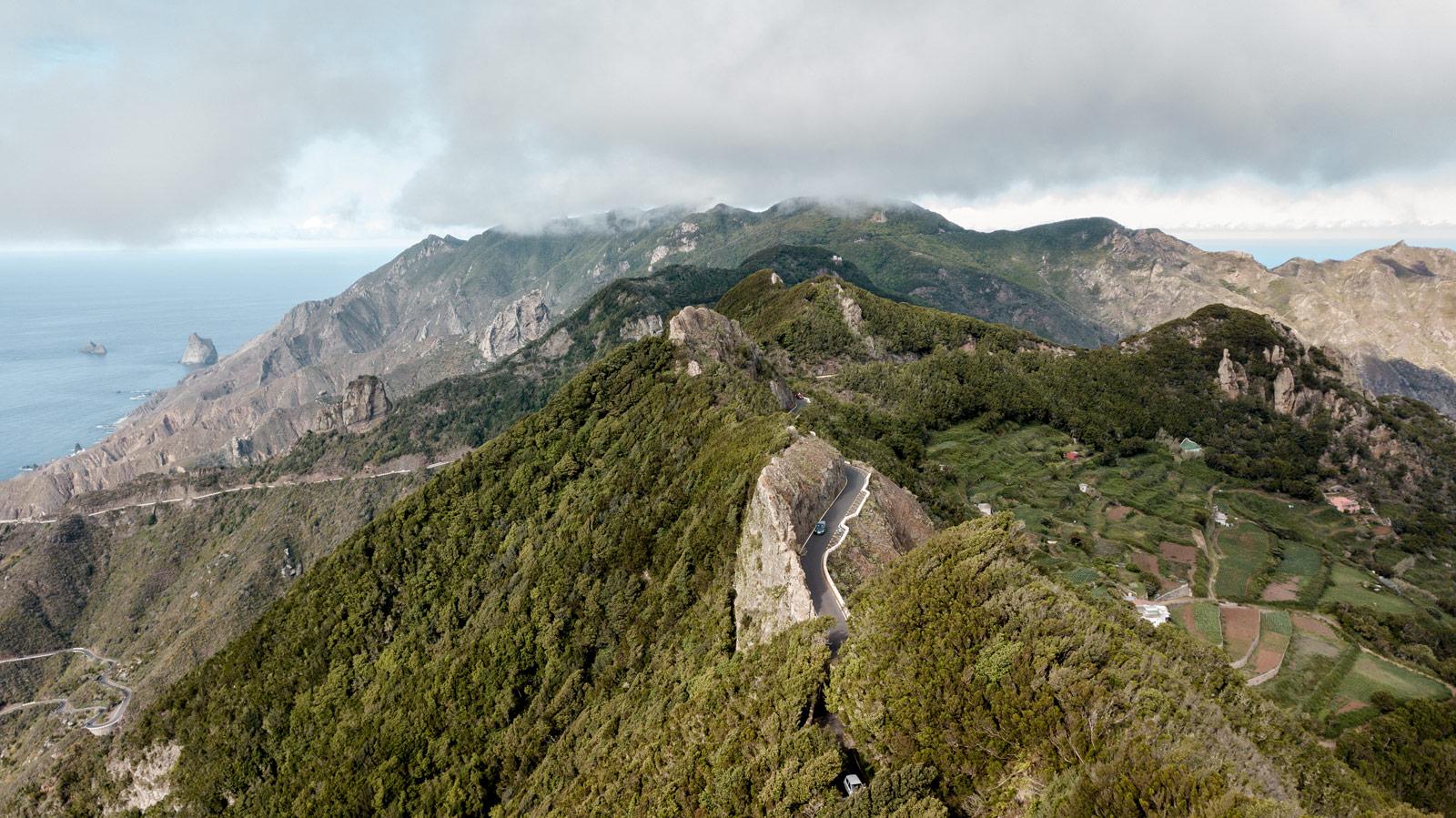les paysages sauvages de l'Anaga