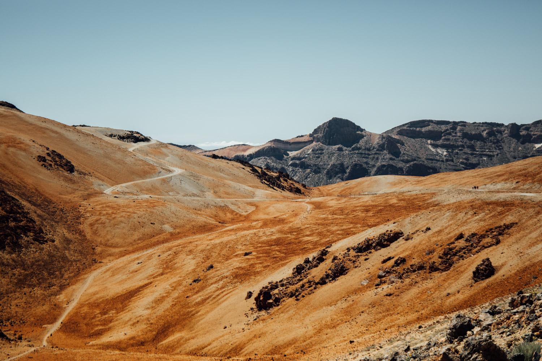 pic du teide sentier première partie de randonnée