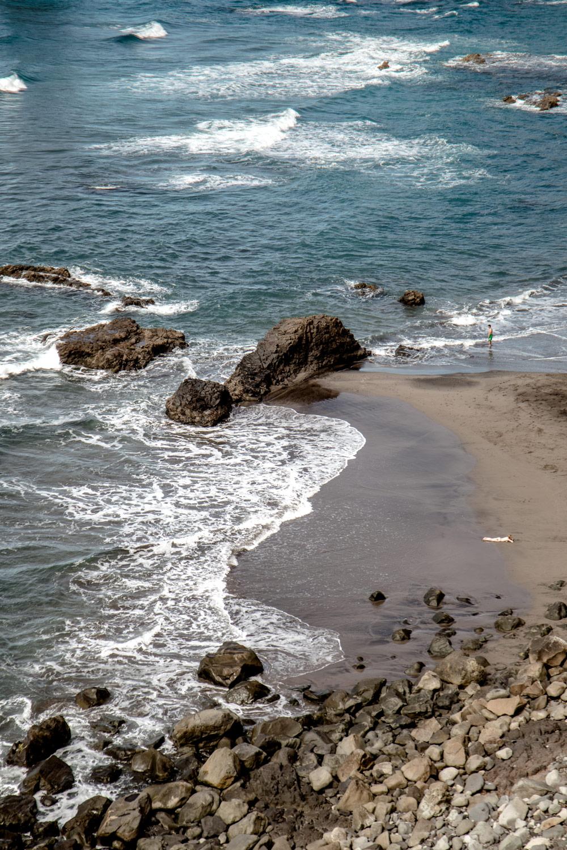 plage de sable noir Tenerife
