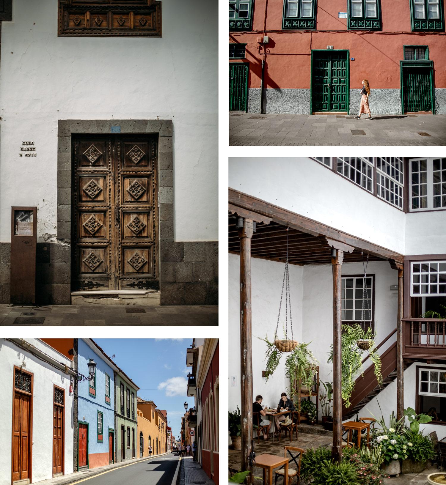 ruelles colorées la laguna première capitale de Tenerife