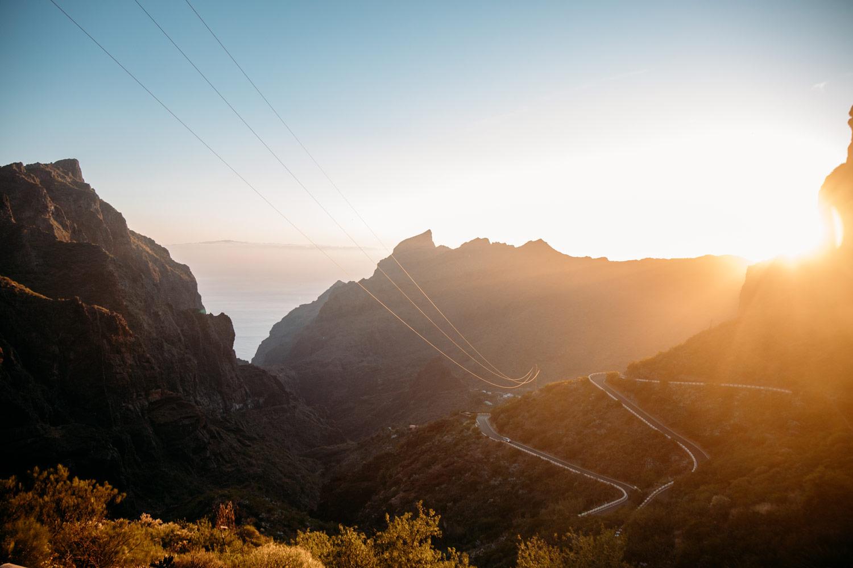 vallée de masca au coucher de soleil
