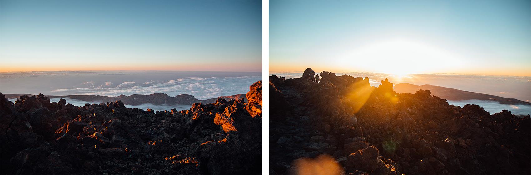 voir le lever de soleil depuis le sommet du teide