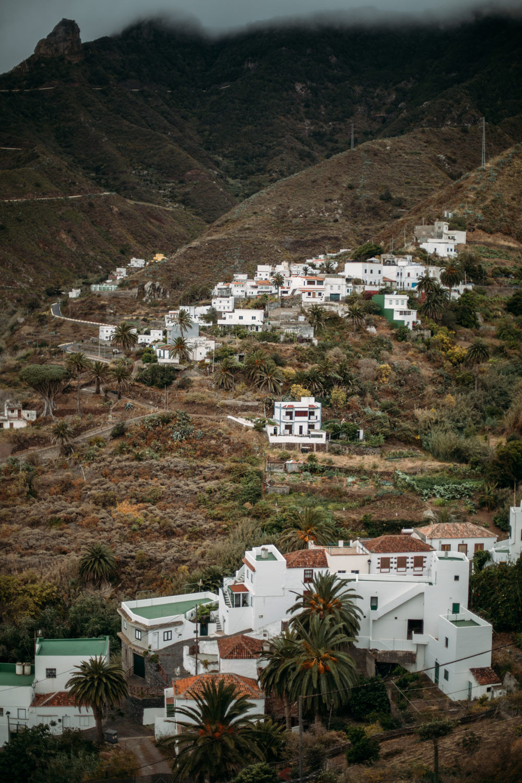 vue sur le village de Taganana