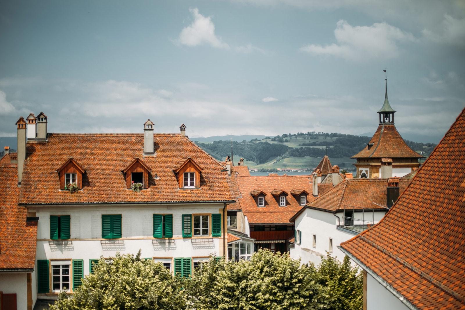 itinéraire en Suisse région du lac morat