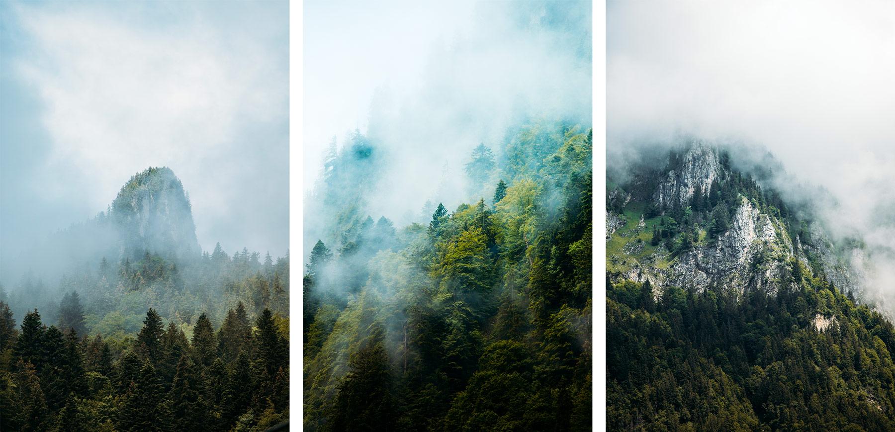 montagne dans la brume canton du fribourg
