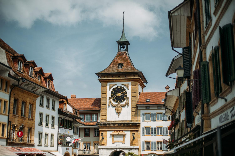 tour et porte de berne ville de Morat