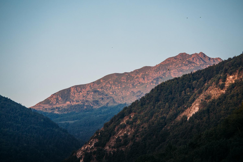 lever de soleil depuis Montségur