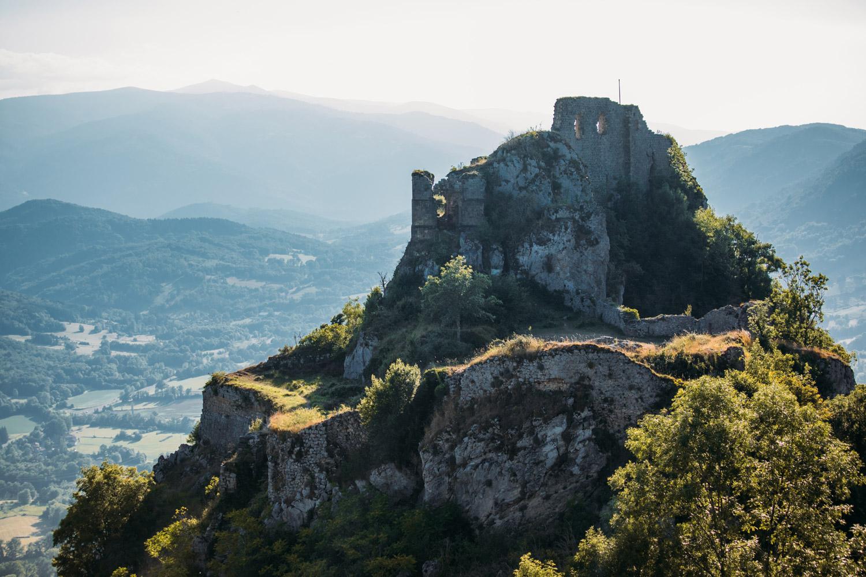 roquefixade étape du GR 107 Ariège