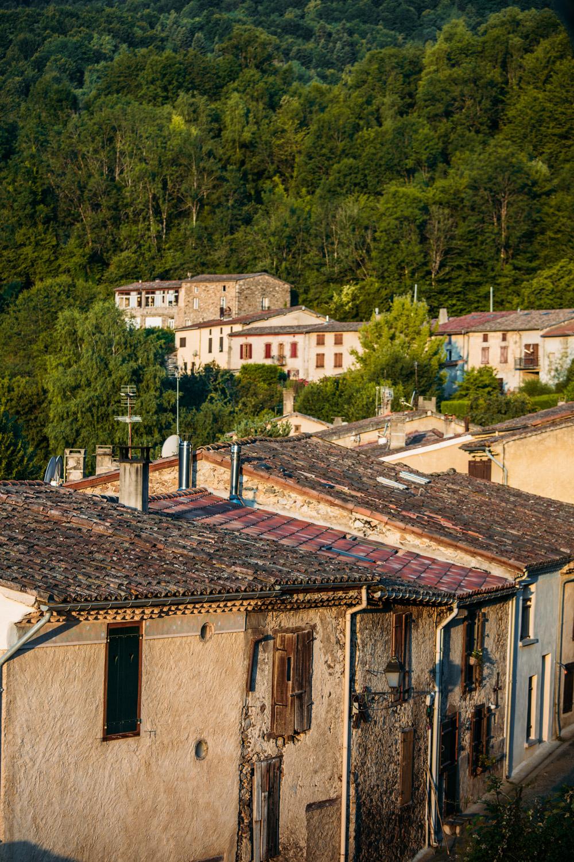 village de Montségur étape 2 du GR 107