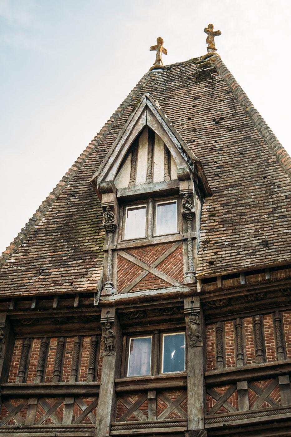 détail architecture manoir normand calvados
