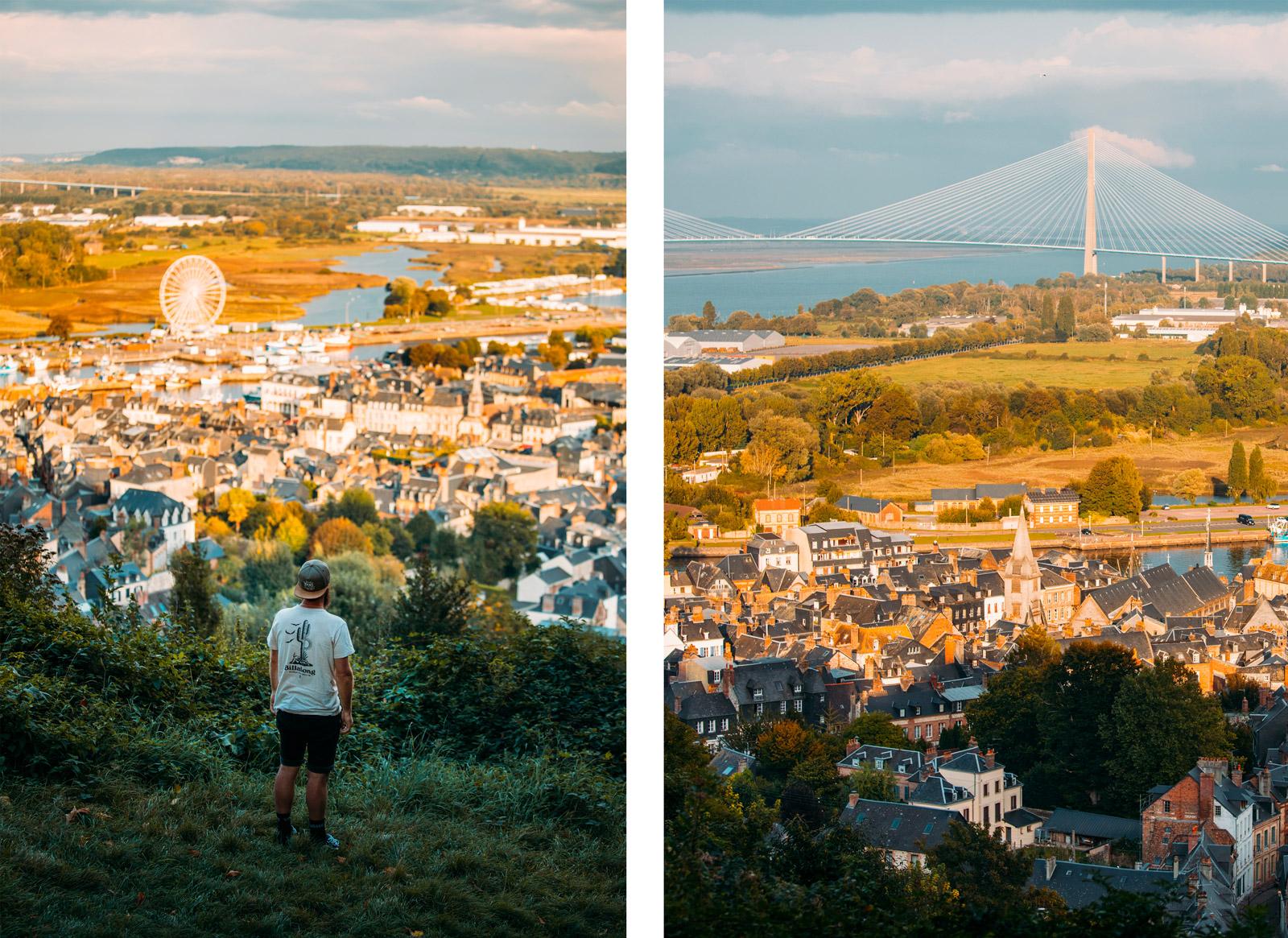que faire à Honfleur : panorama du Mont-Joli